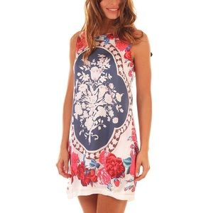 Ada Gatti Floral Print Sleeveless Dress
